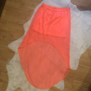 Coral express high-low skirt.